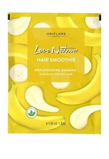 LOVE NATURE Hair Smoothie Replenishing Banana Hair Mask for Dry Hair