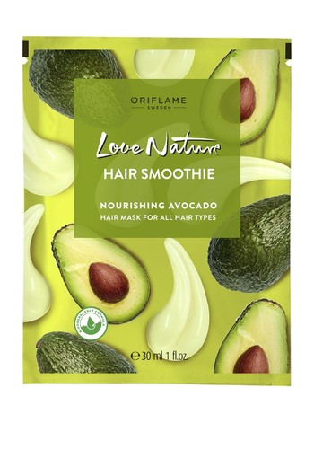LOVE NATURE Hair Smoothie Nourishing Avocado Hair Mask for All Hair