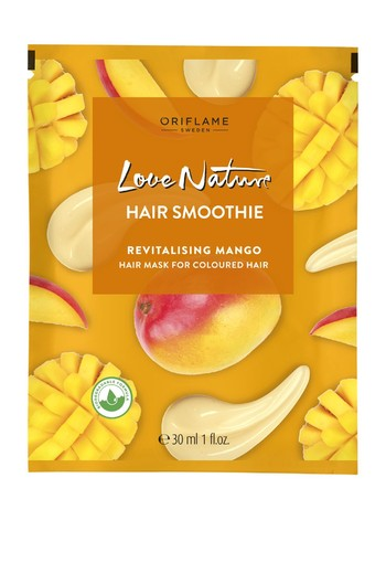 LOVE NATURE Hair Smoothie Revitalising Mango Hair Mask for Coloured Hair